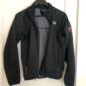 North face summit series shell jacket in black